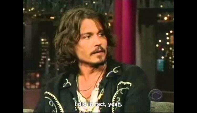 Montage Of Johnny Depp Being Clueless with David Letterman – Info Tutorial