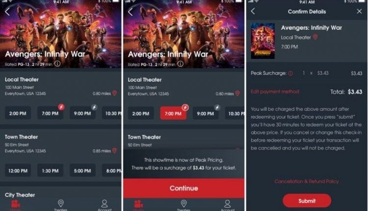 MoviePass Now Charging Extra Fees for Popular Showtimes
