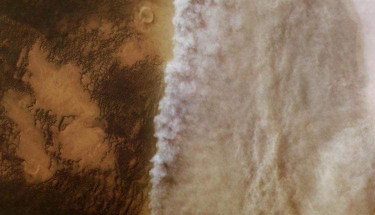 New Image Shows Beginning Stages of Martian Dust Storm – Info Gadgets