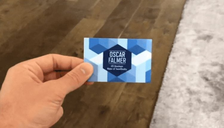 This AR business card is way cooler than your flimsy card – Info Web Design