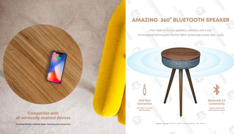 This Discounted Table Is A Qi Charger and Bluetooth Speaker In One – Info Computing