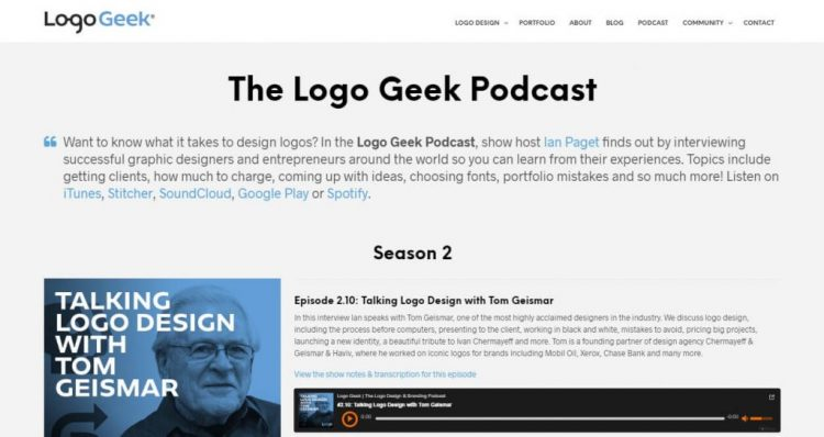 the logo geek podcast