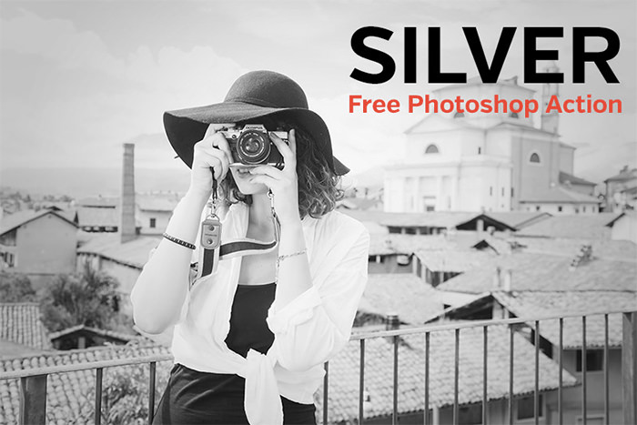 Free Photoshop Action: Silver