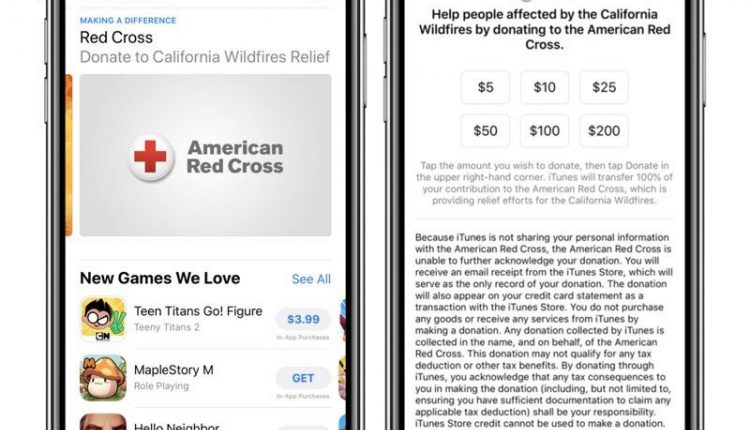 Apple Accepting Red Cross Donations for California Fire Relief – Info Mac