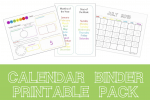 Free Calendar Binder Printable Pack for Kids – Info Money Manage