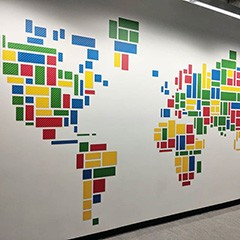 Google Wall Map Designed With Google Display Ad Units – Info SEO