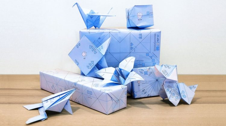 This clever gift wrap is printed with origami instructions – Info Web Design
