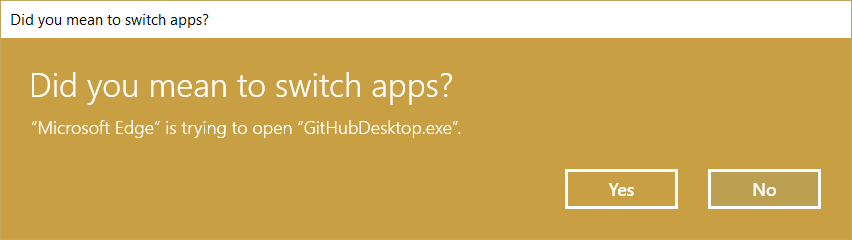 Did you mean to switch apps?