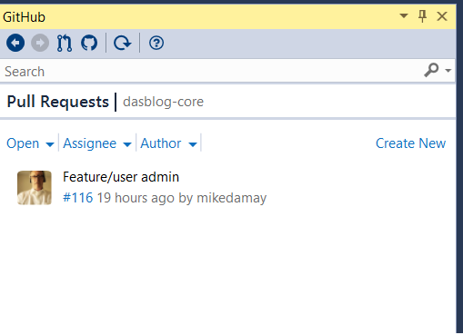 Reviewing pull request in Visual Studio