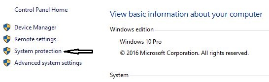 Steps to Create Restore point in windows