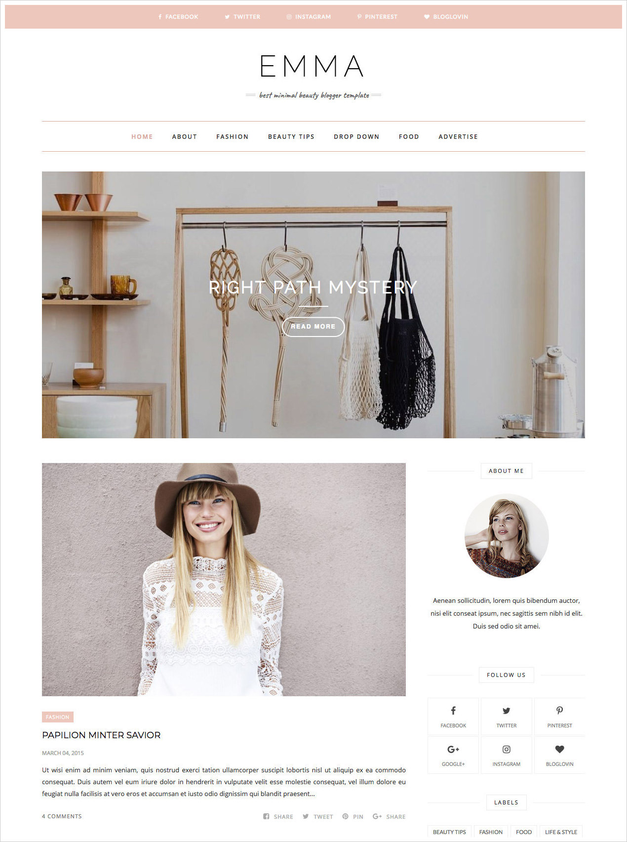 50 Most Beautiful Blogger Templates to Download (2018) | Web Designing