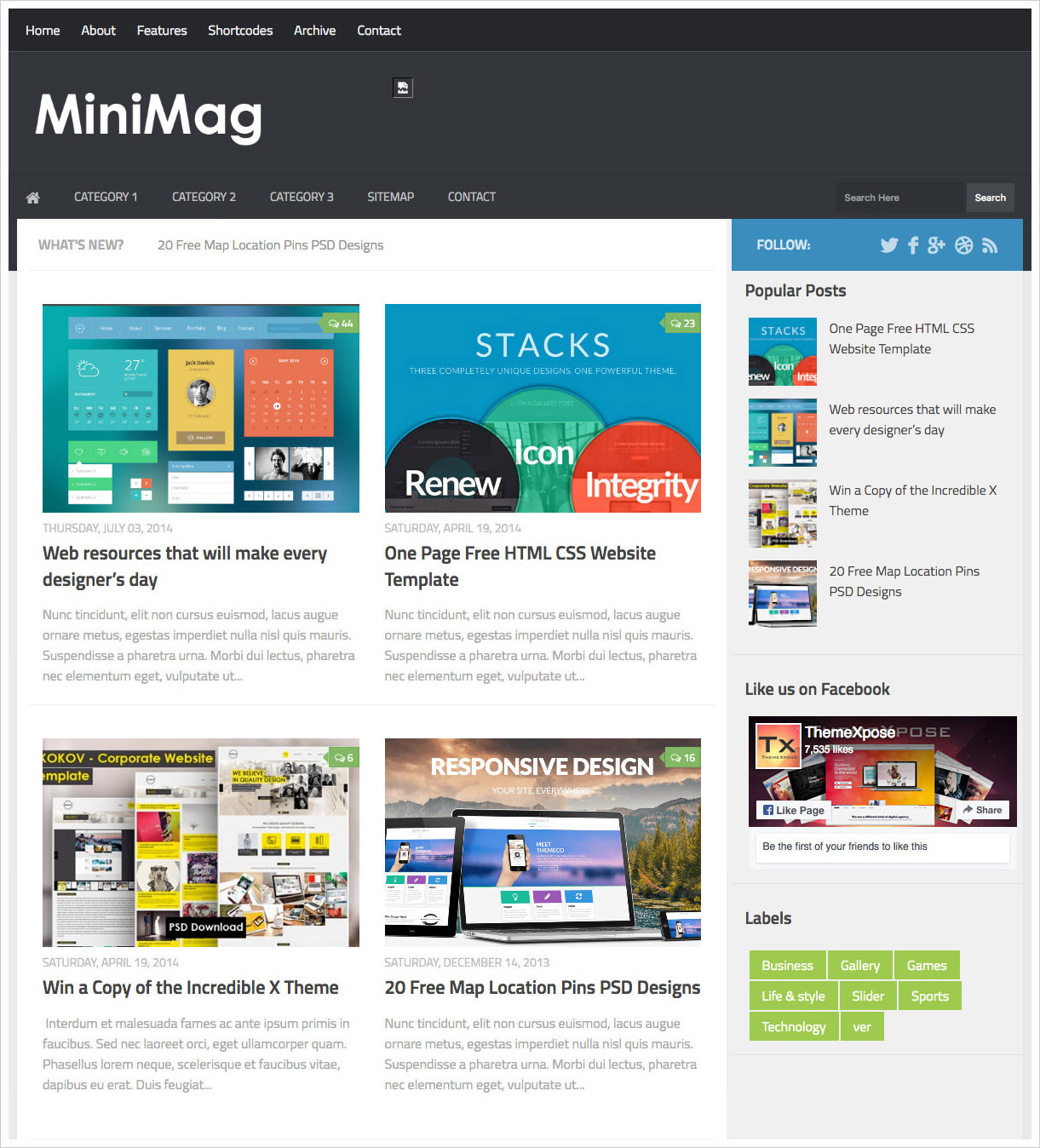 50 most beautiful blogger templates to download 2018 web minimag blogger template wajeb Images