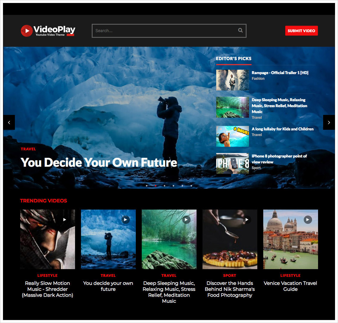 VideoPlay-Black-Blogger-Template