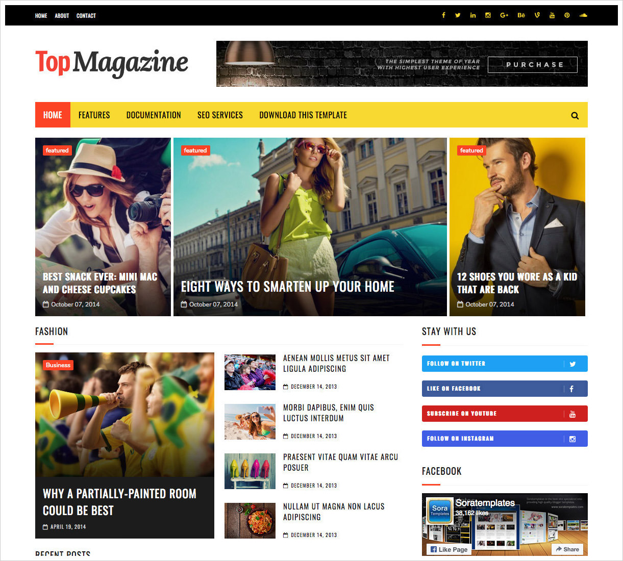 50 most beautiful blogger templates to download 2018 web top magazine template fbccfo Images