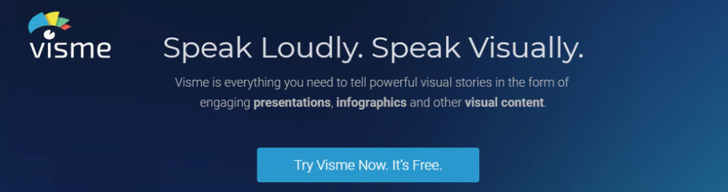 Easily create infographics, banners and more with Visme