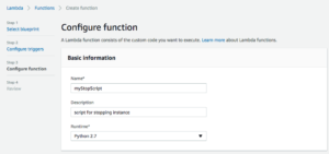 Configure your function