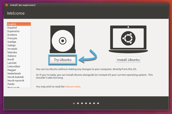 create-linux-live-usb-macos-try-ubuntu-startup-screen