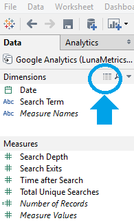View Data Table After Connecting Tableau and Google Analytics