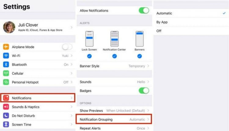 How to Customize Grouped Notifications in iOS 12 | Mac