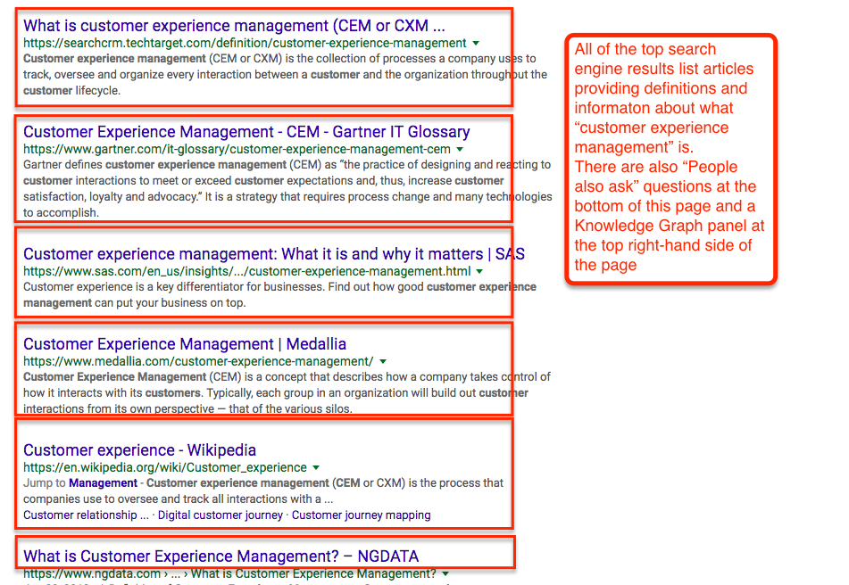 Customer Experience Management Search Results