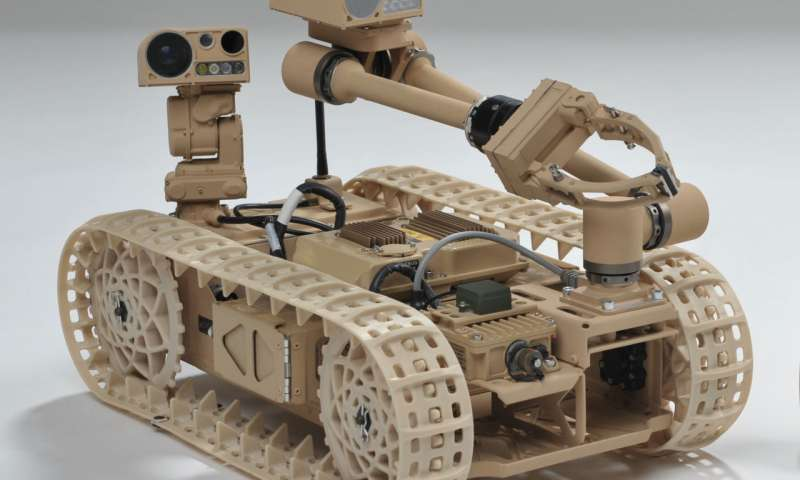 If military robot falls, it can get itself up