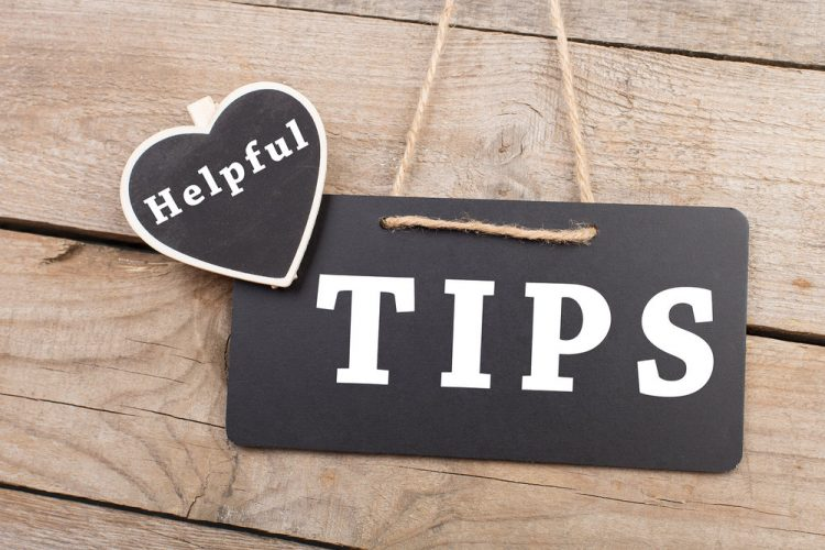 Sign promoting helpful tips