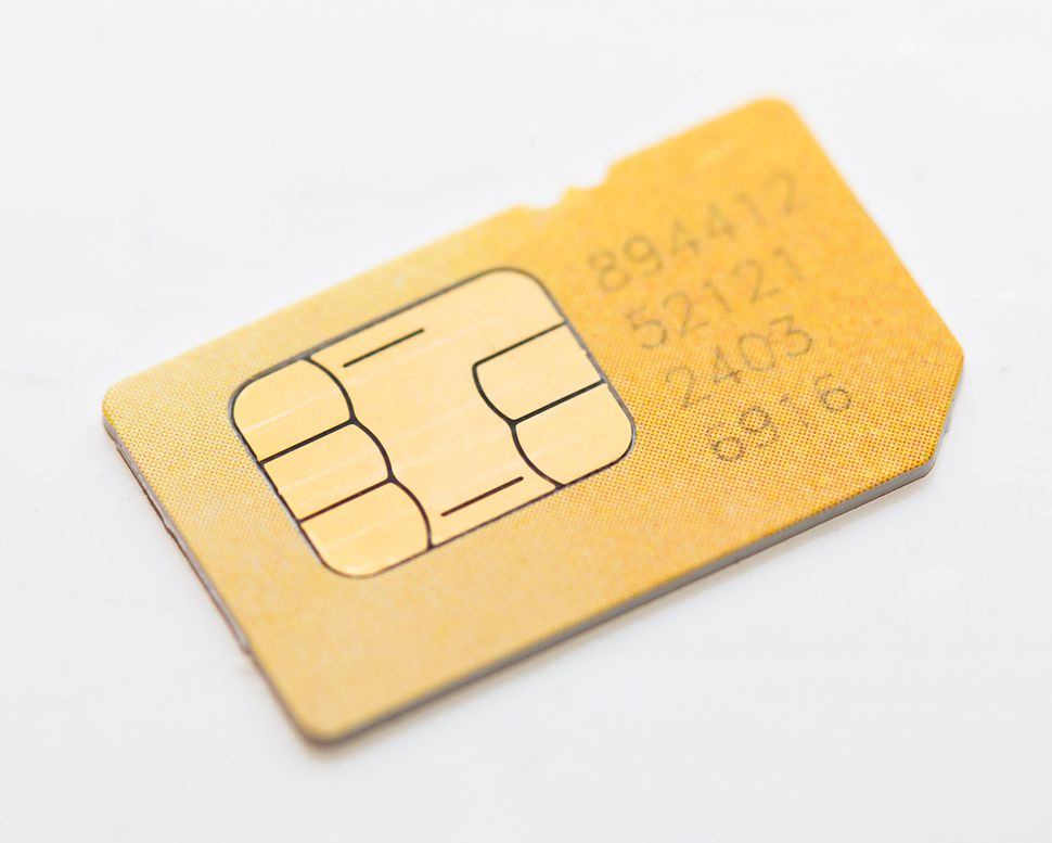 SIM cards are small slivers of plastic with an embedded chip involved in smartphone authentication, identification and encryption of voice and data transmissions.