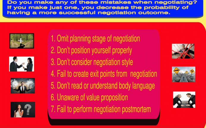 Beware of the 7 Most Deadly Mistakes Negotiators Make | Negotiation