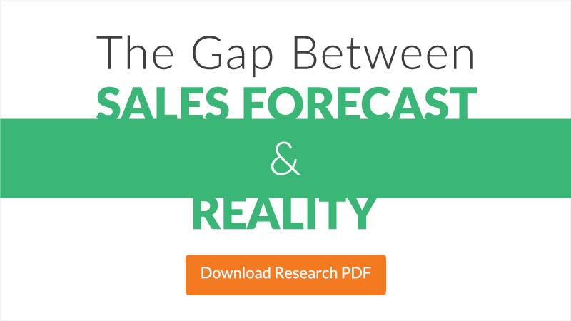 sales forecasting statistics - the gap between sales forecasting and reality insidesales.com