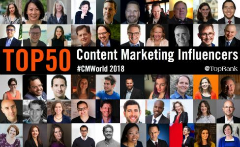The Original List: 50 Content Marketing Influencers and Experts to Follow into 2019 | Marketing