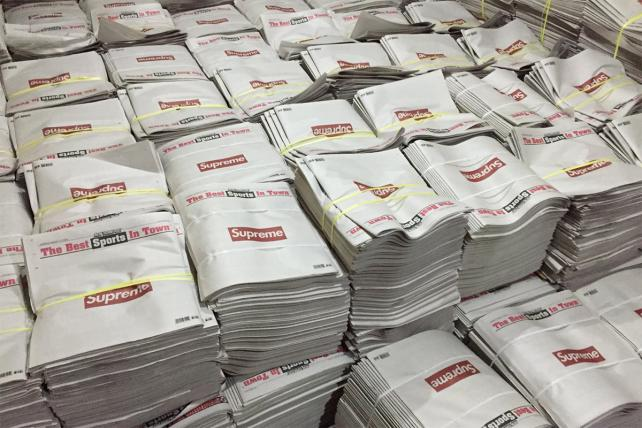 Want a copy of today's Supreme New York Post? You'll probably have to buy it on eBay | Advertising