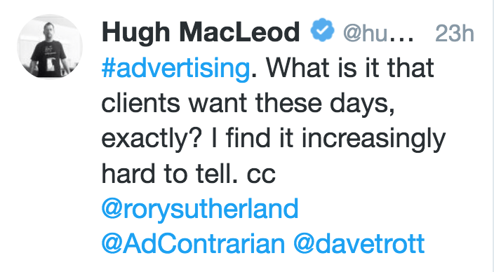 What Do Clients Want?   Advertising