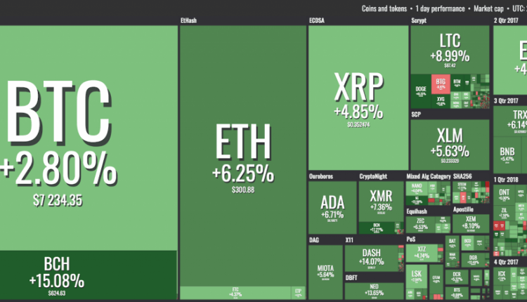 Almost All Top 100 Cryptocurrencies Solidly in Green, Dogecoin Skyrockets Over 40% | Crypto