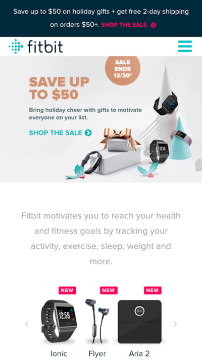 Fitbit holiday promotions