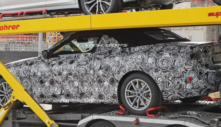 2020 BMW 4-Series Cabrio Caught With Its Top Up On Transport Trailer | Feature