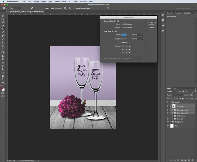 Photoshop Resizing Canvas Size