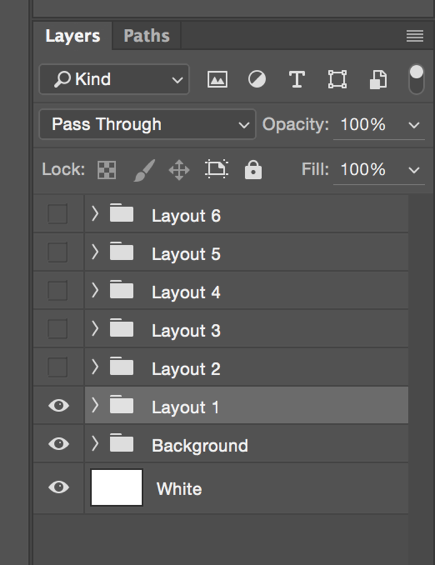 Photoshop Layers Palette