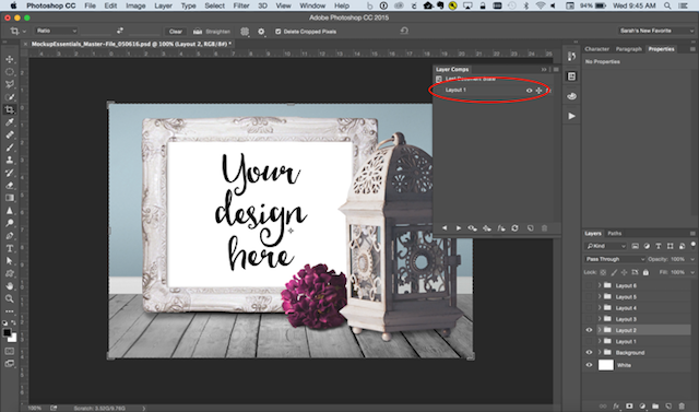 Photoshop Tricks Layer Name
