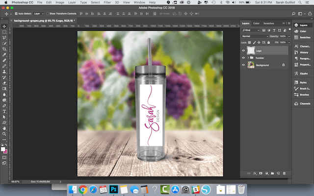 Photoshop Tricks Tumbler Logo