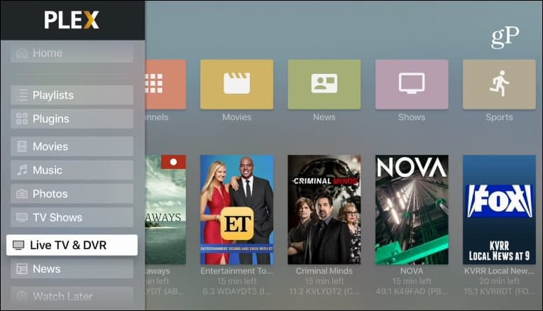 Plex Apple TV DVR