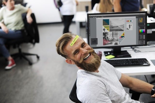 Smiling Worker in Office
