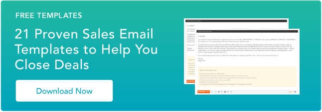 free email sales templates