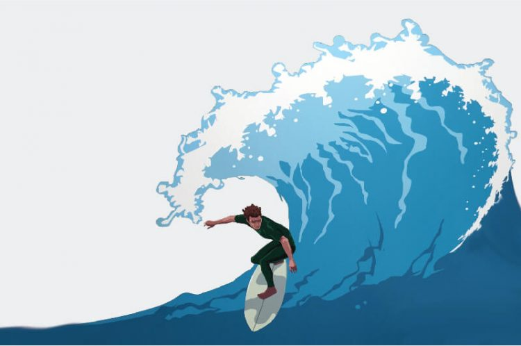 Stay Ahead of the Wave Illustration