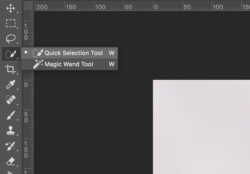 Photoshop Quick Selection Tool