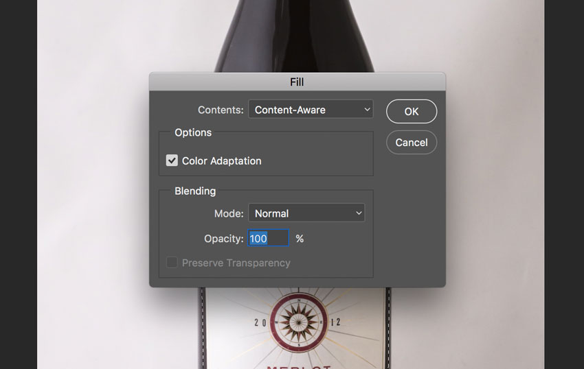Photoshop Content-aware fill