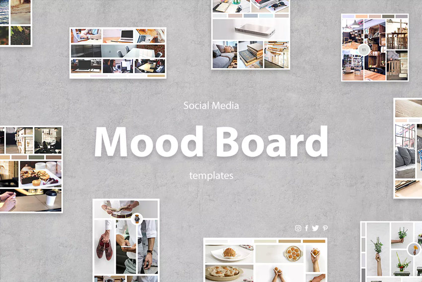 Social Media Mood board Templates