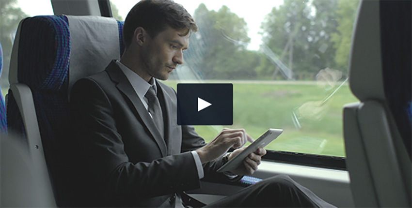Businessman Travel with Train