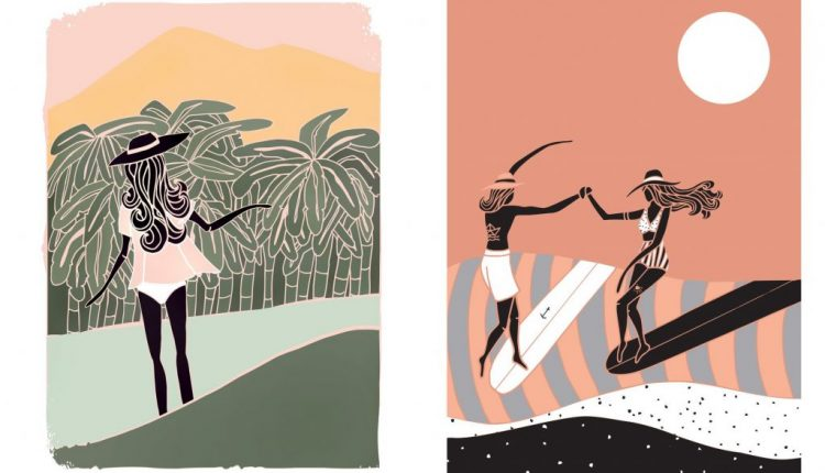 Beautiful Surf & Soul illustrations by Lizzy | Web Designing