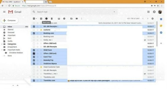 Gmail Report Spam Feature