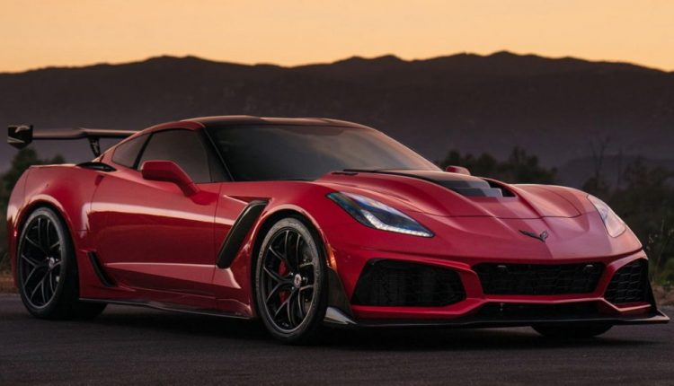 Long Beach Red Corvette ZR1 Puts On Satin Black Wheels For Sunset Pose   Feature